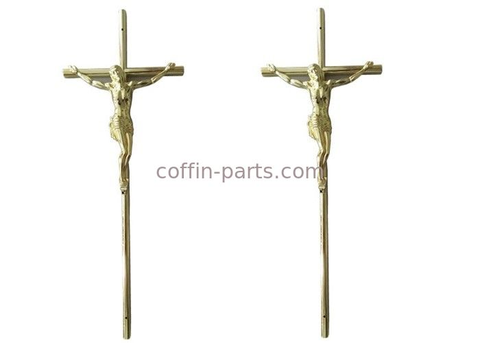 Casket Surface Decoration Funeral Crucifix  , 37 × 13.7 Cm  Gold Jesus Casket Cross